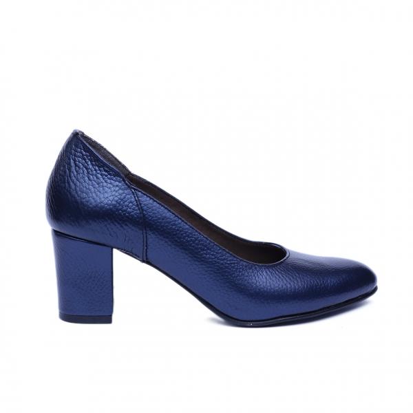 Pantofi dama din piele naturala, Diana, Nist, Albastru, 36 EU 0