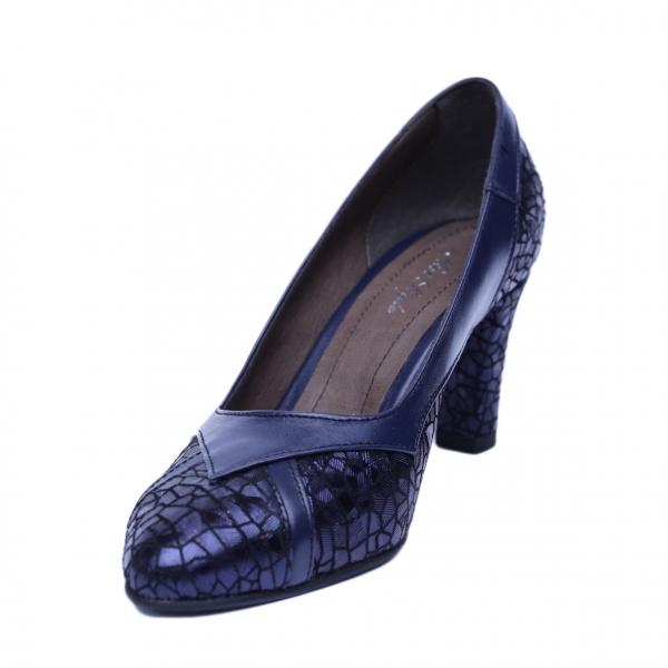 Pantofi dama din piele naturala, Weddy, Nist, Albastru, 37 EU 1