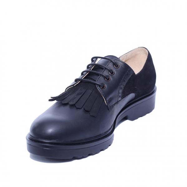 Pantofi dama din piele naturala, City, PETER, Negru, 40 EU 0