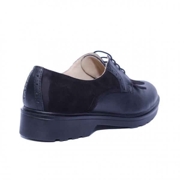 Pantofi dama din piele naturala, City, PETER, Negru, 40 EU 1