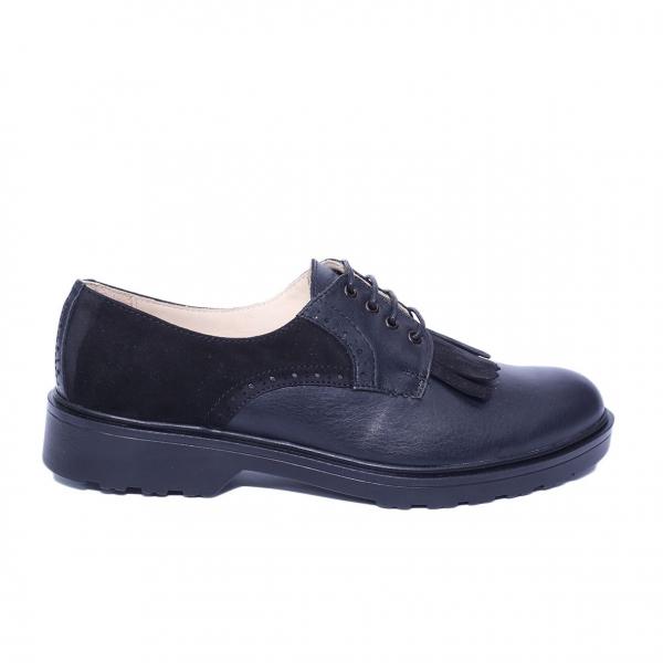 Pantofi dama din piele naturala, City, PETER, Negru, 40 EU 2
