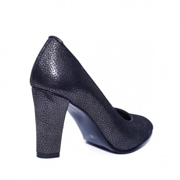 Pantofi dama din piele naturala, Brianne, Nist, Negru, 40 EU 2