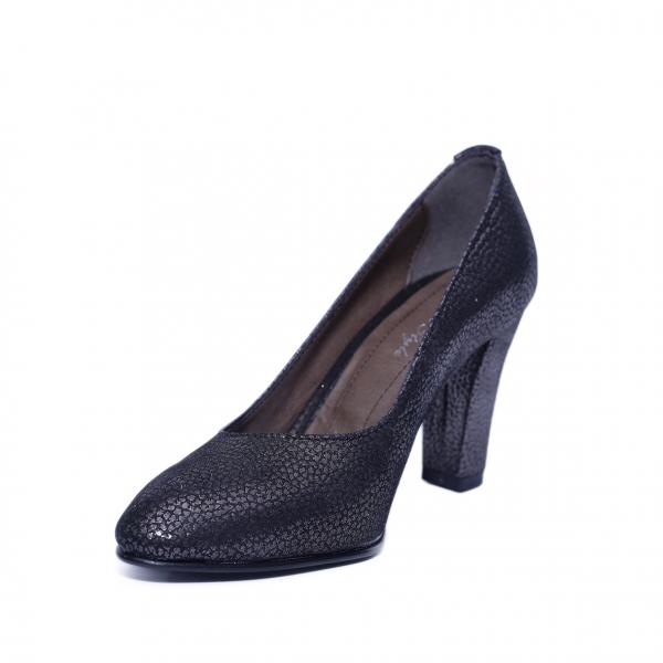 Pantofi dama din piele naturala, Brianne, Nist, Negru, 40 EU 1