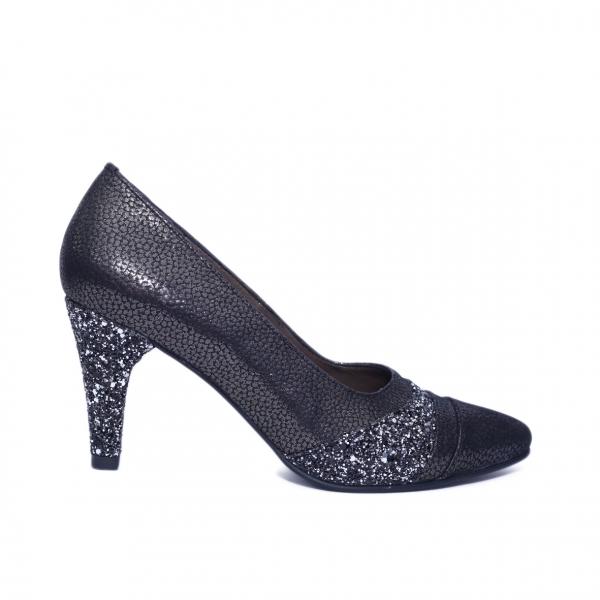 Pantofi dama din piele naturala, Diamond, Nist, Negru, 36 EU 0