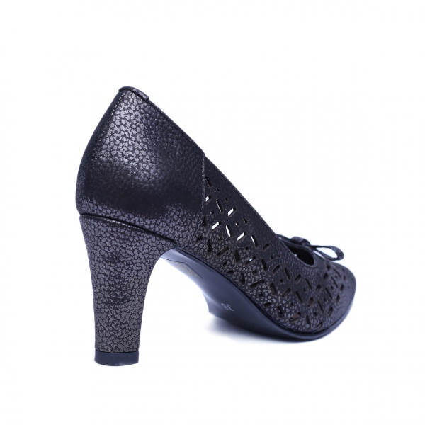 Pantofi dama din piele naturala, Padme, Nist, Negru, 37 EU [2]