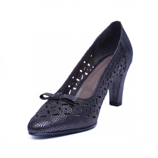 Pantofi dama din piele naturala, Padme, Nist, Negru, 37 EU [1]