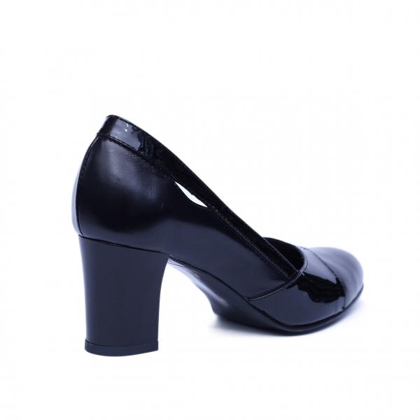 Pantofi dama din piele naturala, Lina, Nist, Negru, 36 EU 2