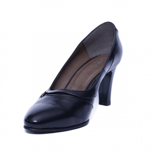 Pantofi dama din piele naturala, Leia, Nist, Negru, 37 EU [1]