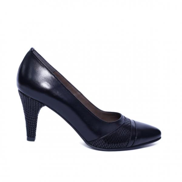 Pantofi dama din piele naturala, Havana, Nist, Negru, 36 EU 0