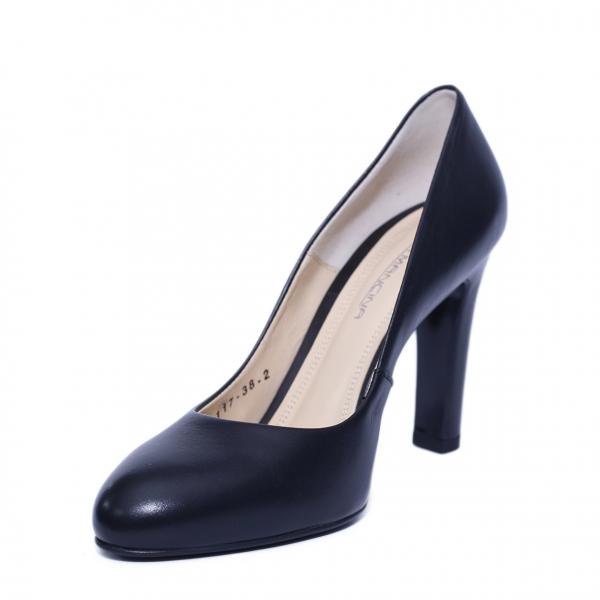 Pantofi dama din piele naturala, Edge, RIVA MANCINA, Negru, 39 EU [1]