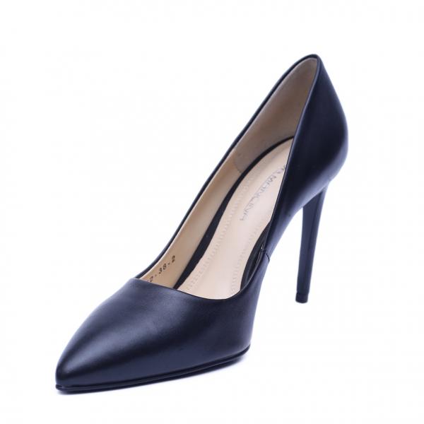 Pantofi dama din piele naturala, Elegance, RIVA MANCINA, Negru, 37 EU [1]