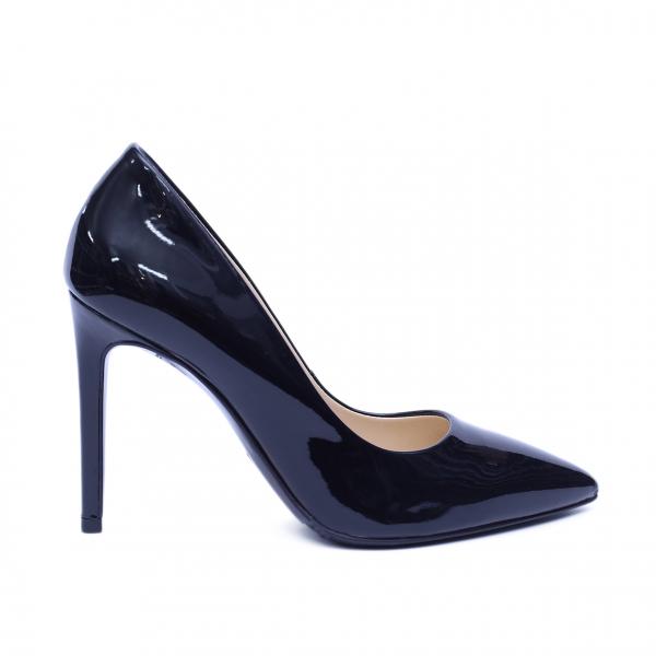 Pantofi dama din piele naturala, Elegance, RIVA MANCINA, Negru lac, 38 EU [0]