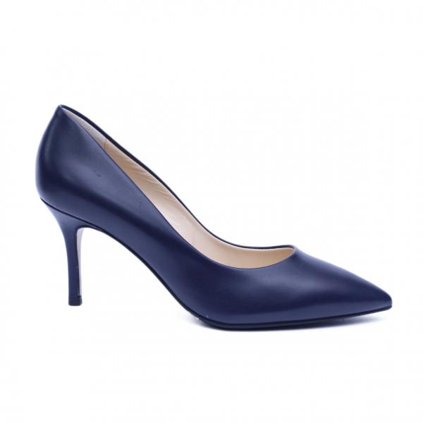 Pantofi dama din piele naturala, Elle, RIVA MANCINA, Albastru, 37 EU 0