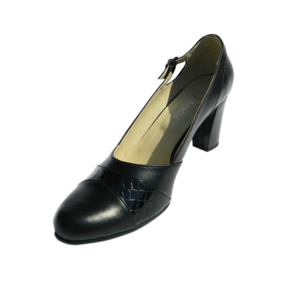 Pantofi dama cu catarama Foxy, piele naturala, Agatia, Negru, 36 EU [0]