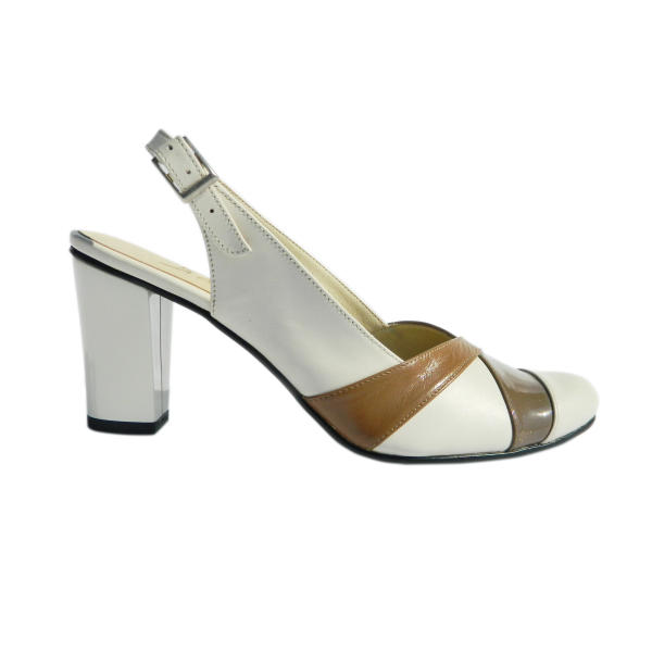 Pantofi dama din piele naturala, Brenda, Agatia, Bej, 36 EU 2