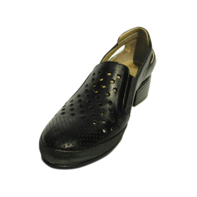 Pantofi dama cu perforatii Irina, piele naturala, Gitanos, Negru, 40 EU [2]