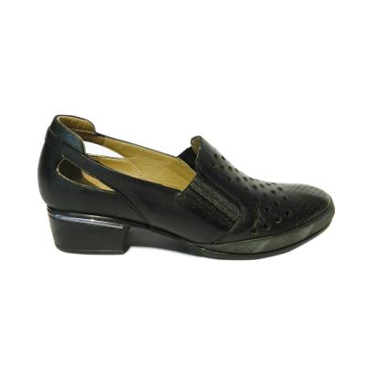 Pantofi dama cu perforatii Irina, piele naturala, Gitanos, Negru, 40 EU [0]