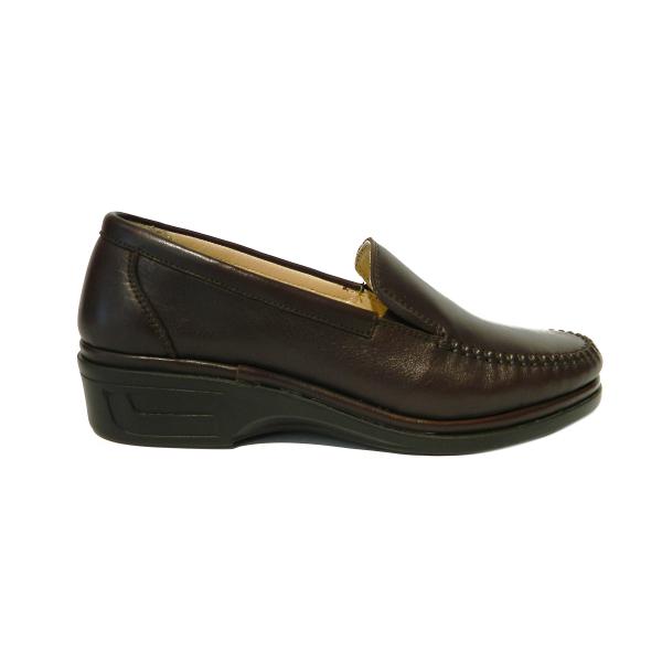 Pantofi dama cu talpa ortopedica Hail, piele naturala, Gitanos, Maro, 36 EU 2