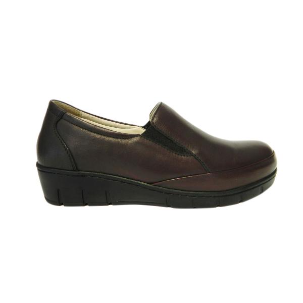 Pantofi dama cu talpa ortopedica Jevy, piele naturala, Gitanos, Bordeaux, 36 EU 2
