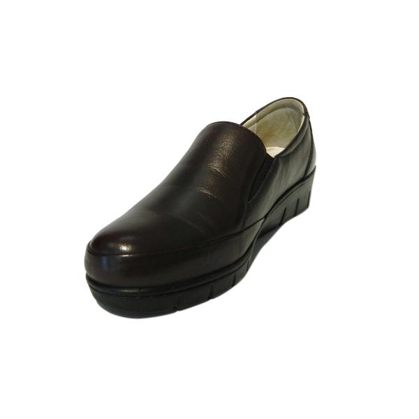 Pantofi dama cu talpa ortopedica Jevy, piele naturala, Gitanos, Bordeaux, 36 EU 0