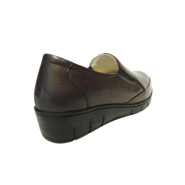 Pantofi dama cu talpa ortopedica Jevy, piele naturala, Gitanos, Bordeaux, 36 EU 1