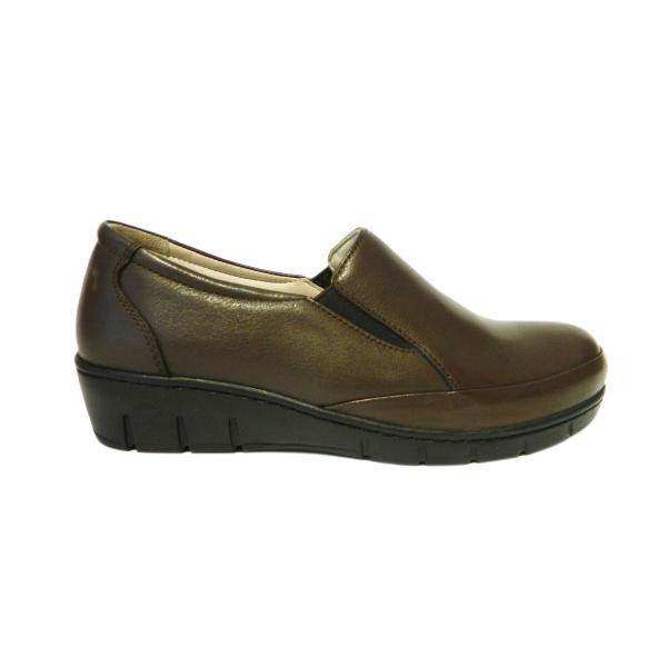 Pantofi dama cu talpa ortopedica Jevy, piele naturala, Gitanos, Maro, 36 EU [2]
