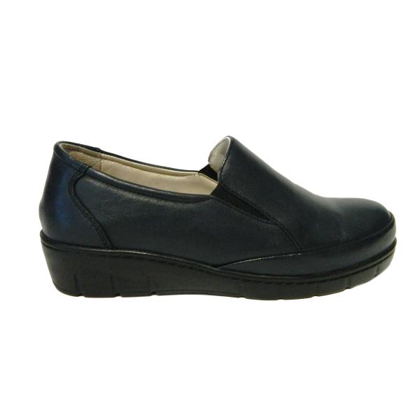 Pantofi dama cu talpa ortopedica Jevy, piele naturala, Gitanos, Albastru, 36 EU 2