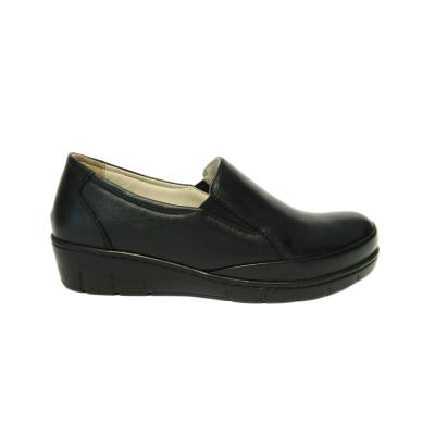 Pantofi dama cu talpa ortopedica Jevy, piele naturala, Gitanos, Negru, 37 EU [0]
