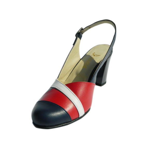 Pantofi dama din piele naturala, Brenda, Agatia, Albastru, 35 EU [0]