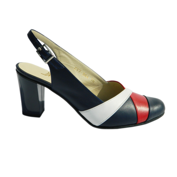 Pantofi dama din piele naturala, Brenda, Agatia, Albastru, 35 EU [2]