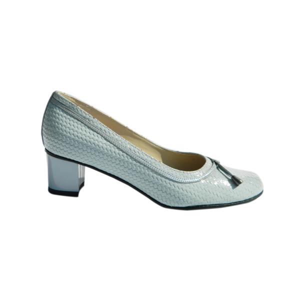 Pantofi dama din piele naturala, Xiemena, Agatia, Albastru, 35 EU 2