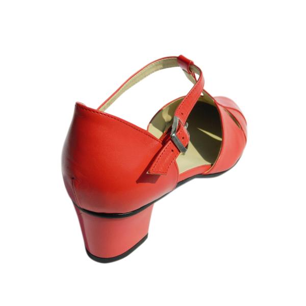 Pantofi dama din piele naturala, Felicity, Agatia, Rosu, 35 EU 1