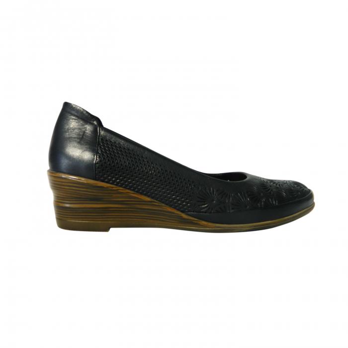 Pantofi dama din piele naturala, Ashley, Gitanos, Albastru, 38 EU 0