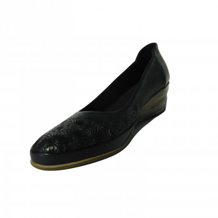 Pantofi dama din piele naturala, Ashley, Gitanos, Albastru, 38 EU 2