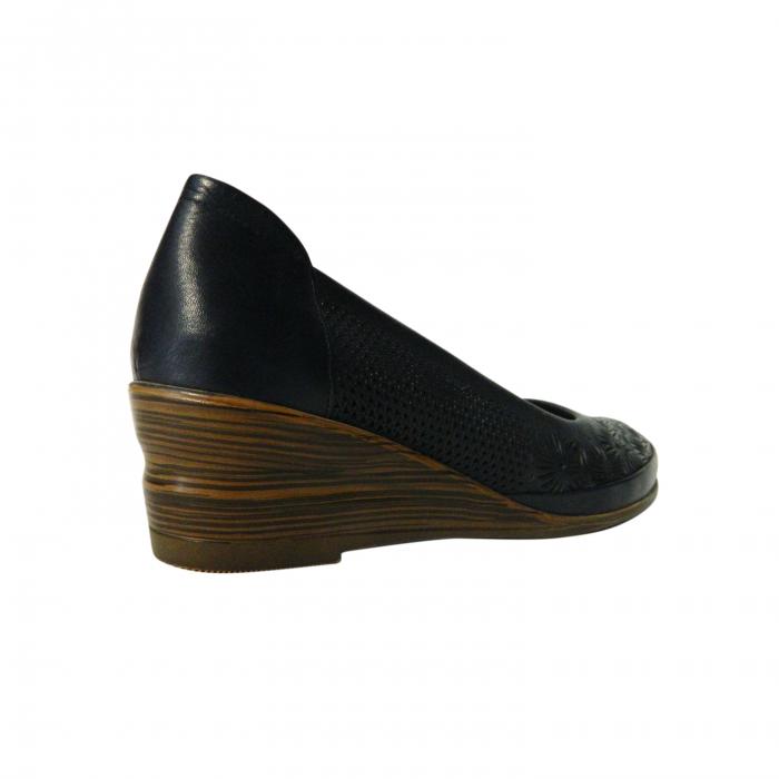 Pantofi dama din piele naturala, Ashley, Gitanos, Albastru, 38 EU 1