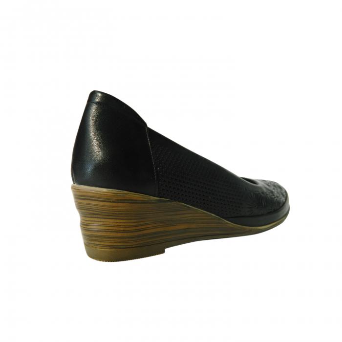 Pantofi dama din piele naturala, Ashley, Gitanos, Negru, 38 EU [1]