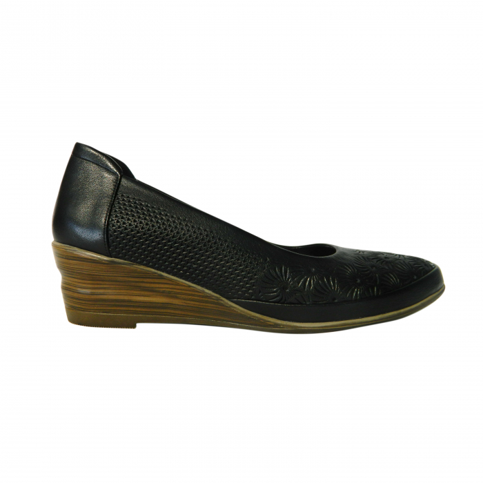 Pantofi dama din piele naturala, Ashley, Gitanos, Negru, 38 EU [0]