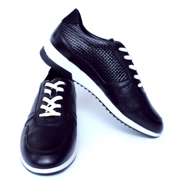 Pantofi dama din piele naturala cu model, Naty, Peter, Negru, 35 EU [3]