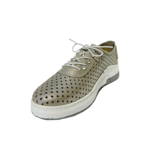 Pantofi dama cu perforatii Detta, piele naturala, Gitanos, Crem, 36 EU 0
