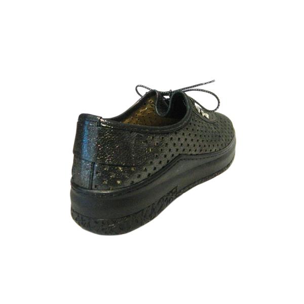 Pantofi dama cu perforatii Detta, piele naturala, Gitanos, Verde, 36 EU [1]