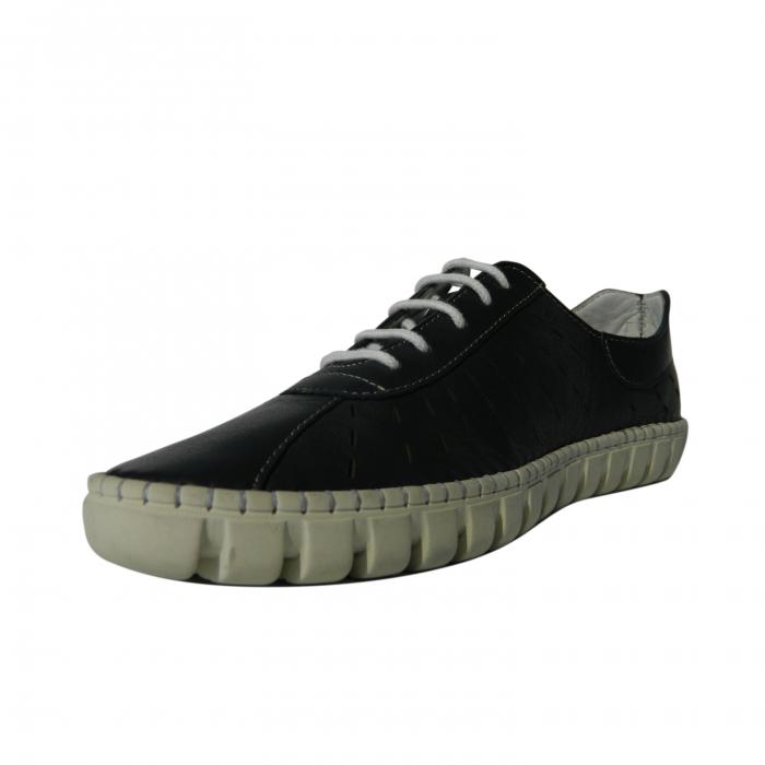 Pantofi dama din piele naturala, Julia, Gitanos, Albastru, 40 EU 2