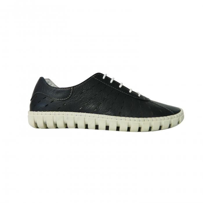 Pantofi dama din piele naturala, Julia, Gitanos, Albastru, 40 EU 0