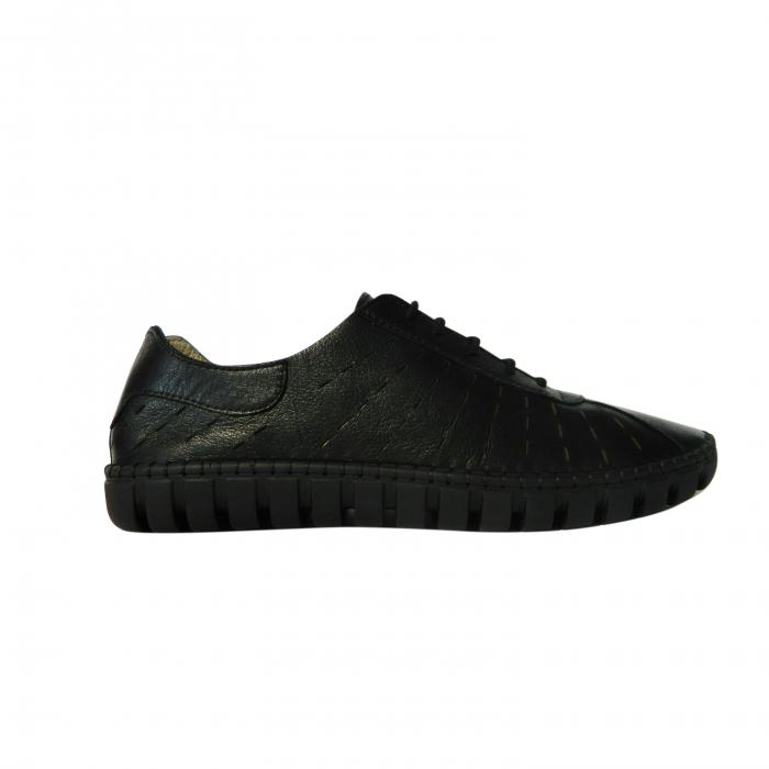 Pantofi dama din piele naturala, Julia, Gitanos, Negru, 37 EU 0