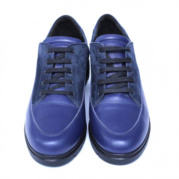 Pantofi dama din piele naturala, MIO, Peter, Albastru, 35 EU 1