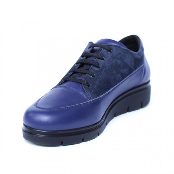 Pantofi dama din piele naturala, MIO, Peter, Albastru, 35 EU 0