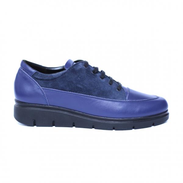 Pantofi dama din piele naturala, MIO, Peter, Albastru, 35 EU 3