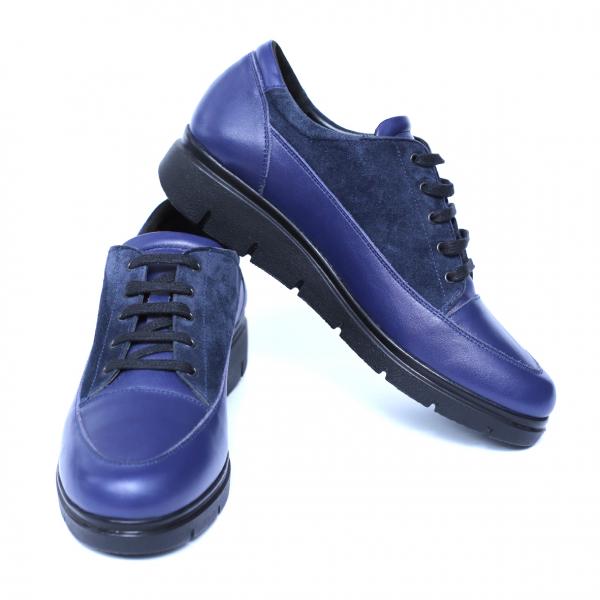 Pantofi dama din piele naturala, MIO, Peter, Albastru, 35 EU 2