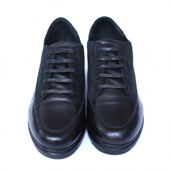 Pantofi dama din piele naturala, MIO, Peter, Negru, 36 EU 2
