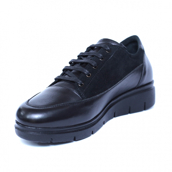 Pantofi dama din piele naturala, MIO, Peter, Negru, 36 EU 0