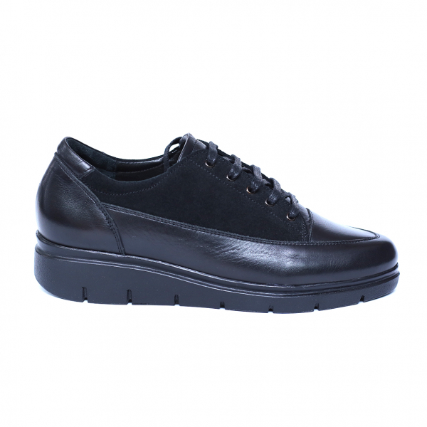 Pantofi dama din piele naturala, MIO, Peter, Negru, 36 EU 3